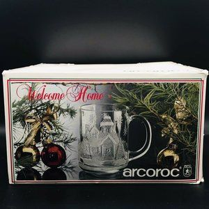 Arcoroc Welcome Home Christmas Winter Mugs
